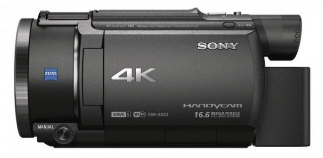 Sony FDR-AX53, 4K Handycam, Sony 4K camcorder